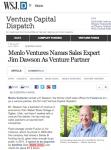 Menlo Ventures Names Sales Expert Jim Dawson As Venture Partner
